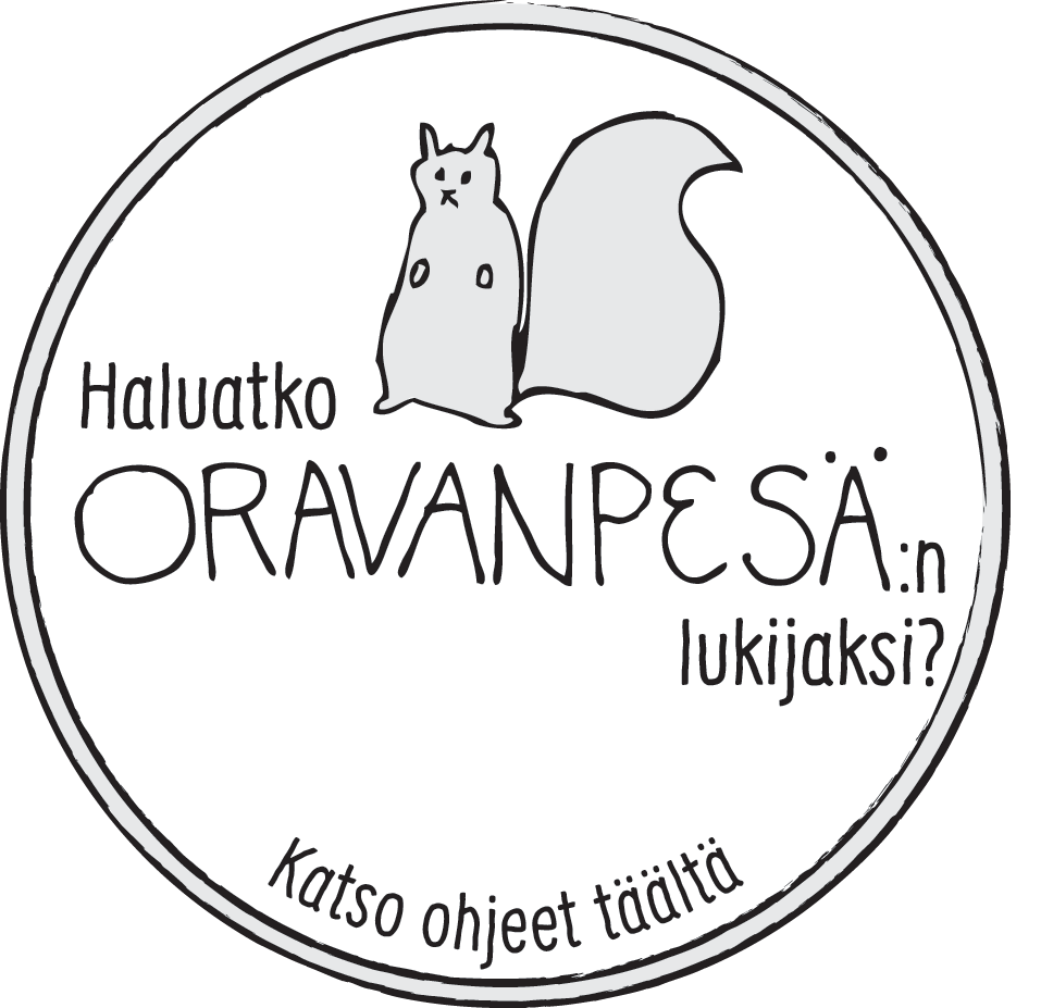 Liity Oravanpesän lukijaksi