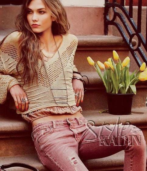 2015 Yeni Moda Bayan Örgü Kazak Modelleri