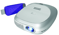 Wireless 3M projector with streaming Roku stick