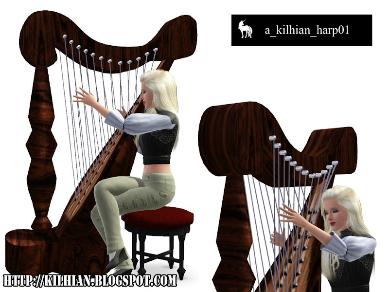 Pose Set N°01 - On Stage! by Kilhian Harp01