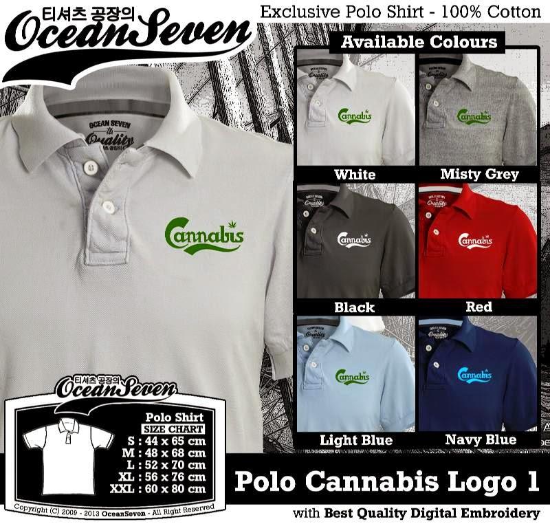 Kaos Polo Cannabis Logo 1
