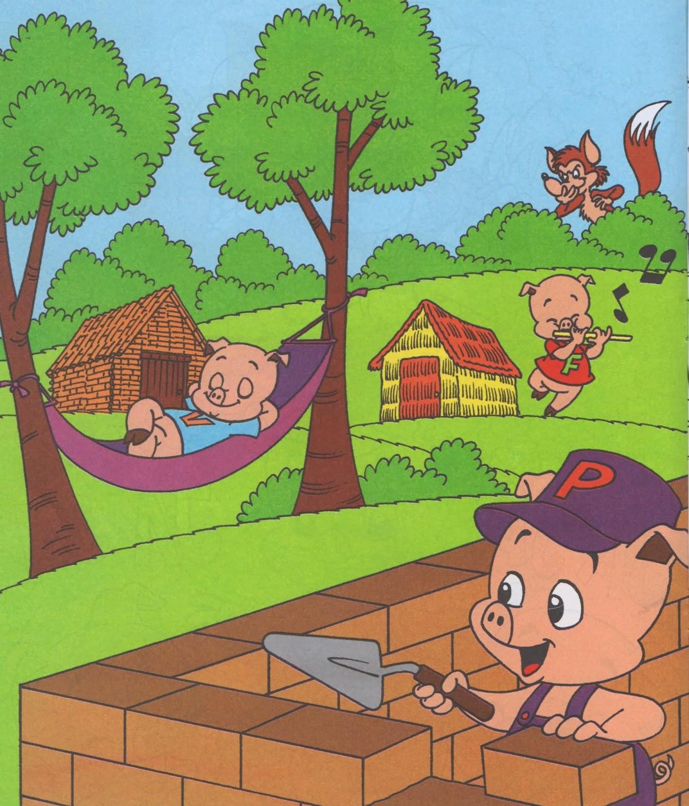 Naylamp abracitos cuento los tres cerditos for Costruendo su a casa mia