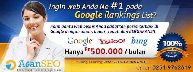 Banner Promo Jasa SEO Murah dari AganSEO.net