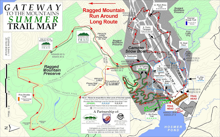9 Mile Course Map