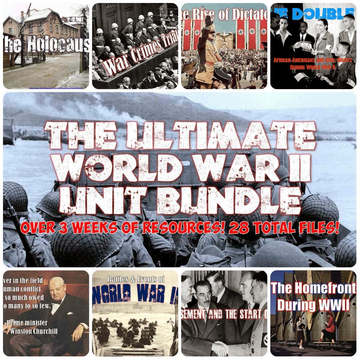 students of history entire world war ii lesson plan unit bundle. Black Bedroom Furniture Sets. Home Design Ideas