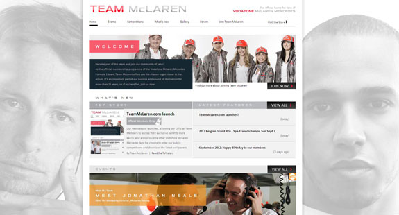New website for Official Team members and other Vodafone McLaren Mercedes fans
