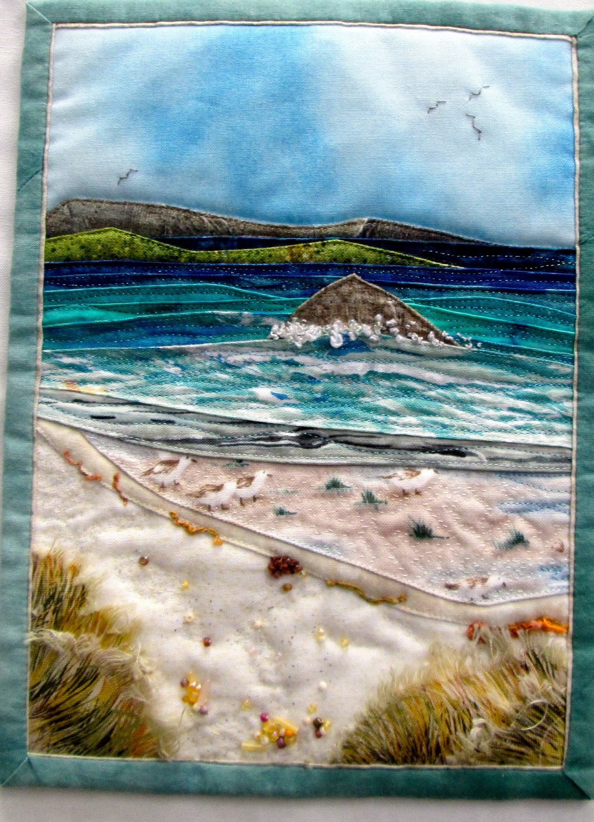 Piece'n'Peace: Quilts In The Wolds : seascape quilts - Adamdwight.com