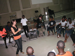 Drama team at my church in Liberia