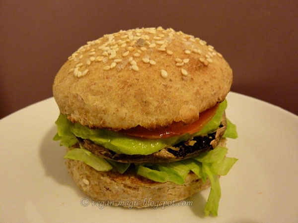 Portobello Mushroom Burgers with Avocado « Vegan Recipes ...