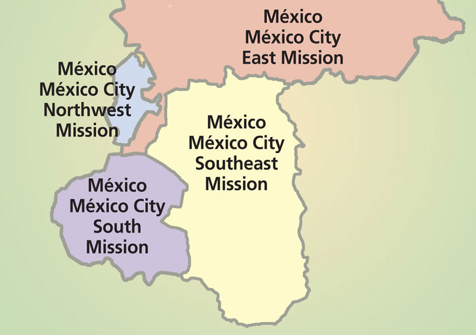 Mexico City NorthWest Mission Map