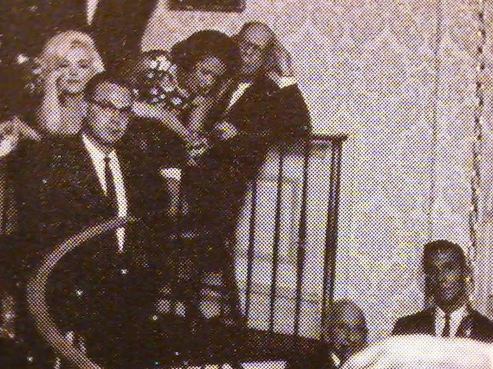 "MARILYN MONROE AND ASAIC FLOYD BORING (the night of the ""Happy Birthday Mr. President"" performance)"