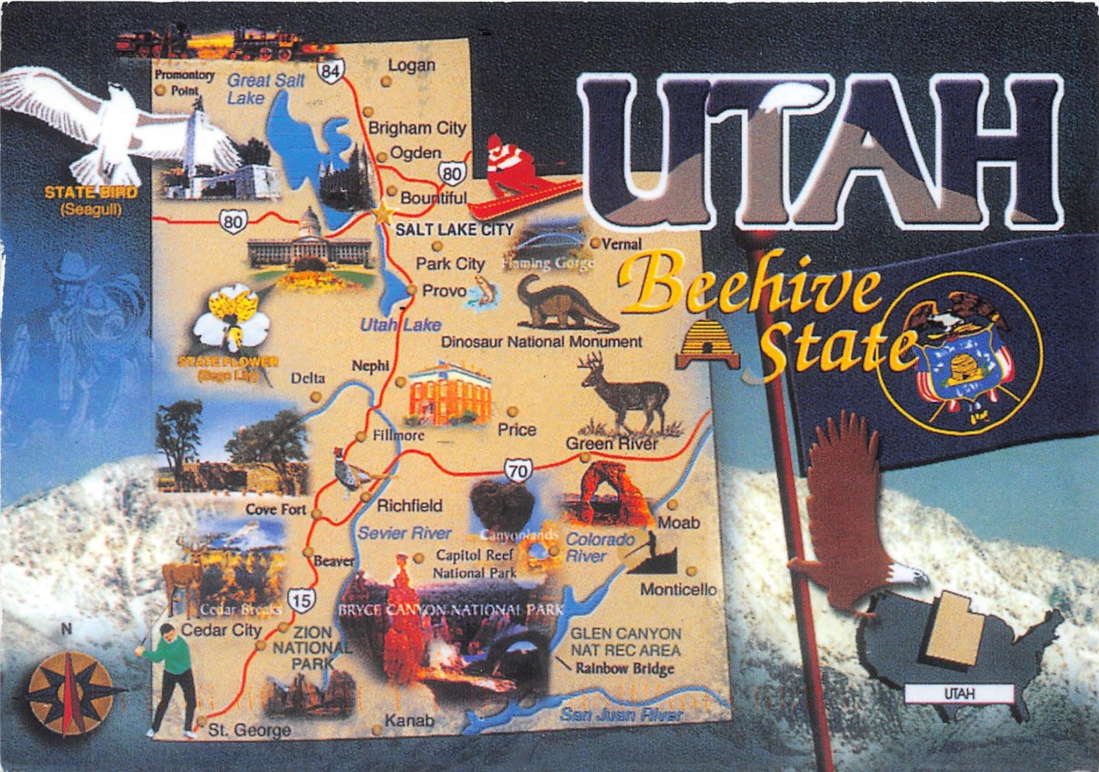 Utah - Beehive State | Jack's Postcards