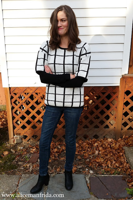 fall, fashion, autumn, Primark, black, white, monochrome, outfit, ootd, ankle boots, jeans, sweater, jumper, Alice Manfrida, amanfrida, alicemanfrida