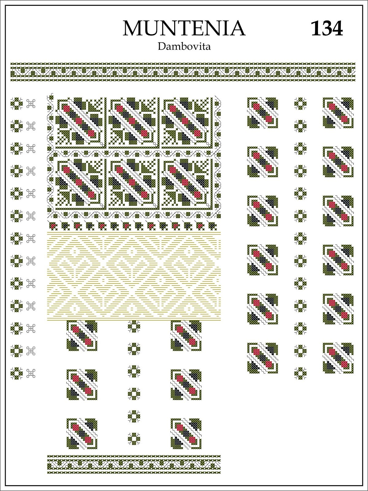 Pagina Reprodusa Din Album De Cusaturi Romanesti