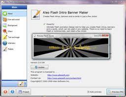 Aleo Flash Intro Banner Maker 4 Full Version