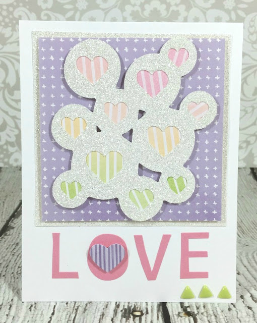 Cricut Heart Bubble card