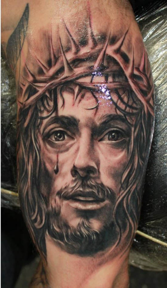 shanninscrapandcrap jesus tattoos. Black Bedroom Furniture Sets. Home Design Ideas