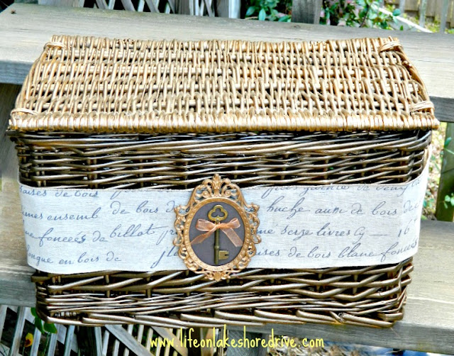 Decorative Wicker Storage Basket Makeover