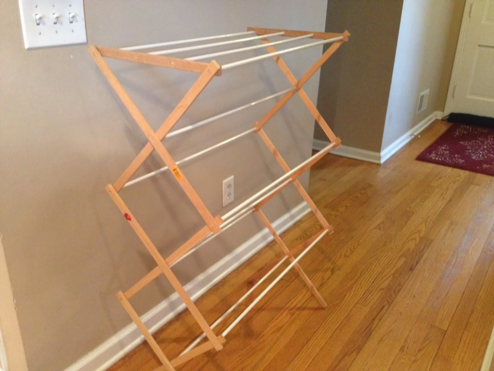 Two it yourself diy laundry drying rack wall mount from floor two it yourself diy laundry drying rack wall mount from floor standing solutioingenieria Choice Image