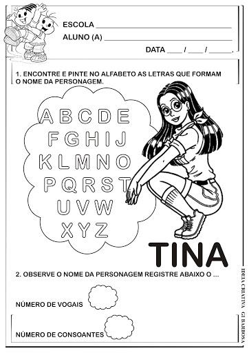 Atividade Projeto Turma da Mônica