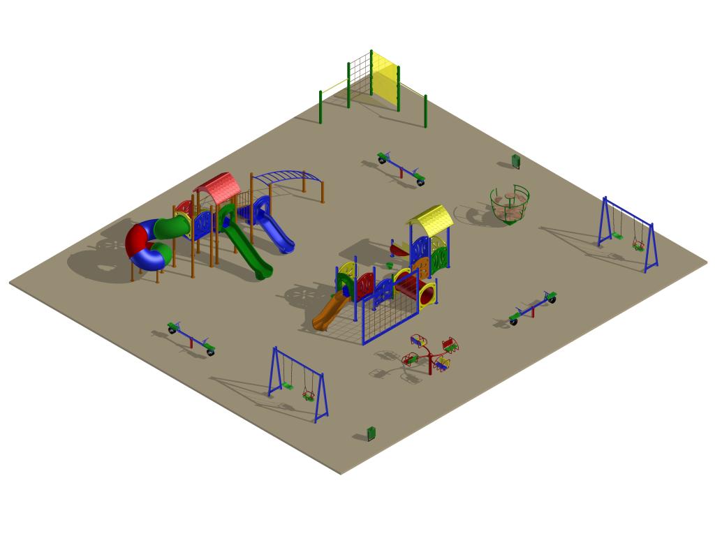Детская площадка на Лорха, 7, вариант 5 (проект)