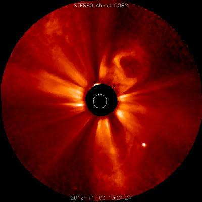 Eyeccion de masa coronal 03 de Noviembre 2012