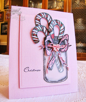 Stamps - Our Daily Bread Designs Candy Cane, Blue Ribbon Winner, ODBD Custom Canning Jars Die