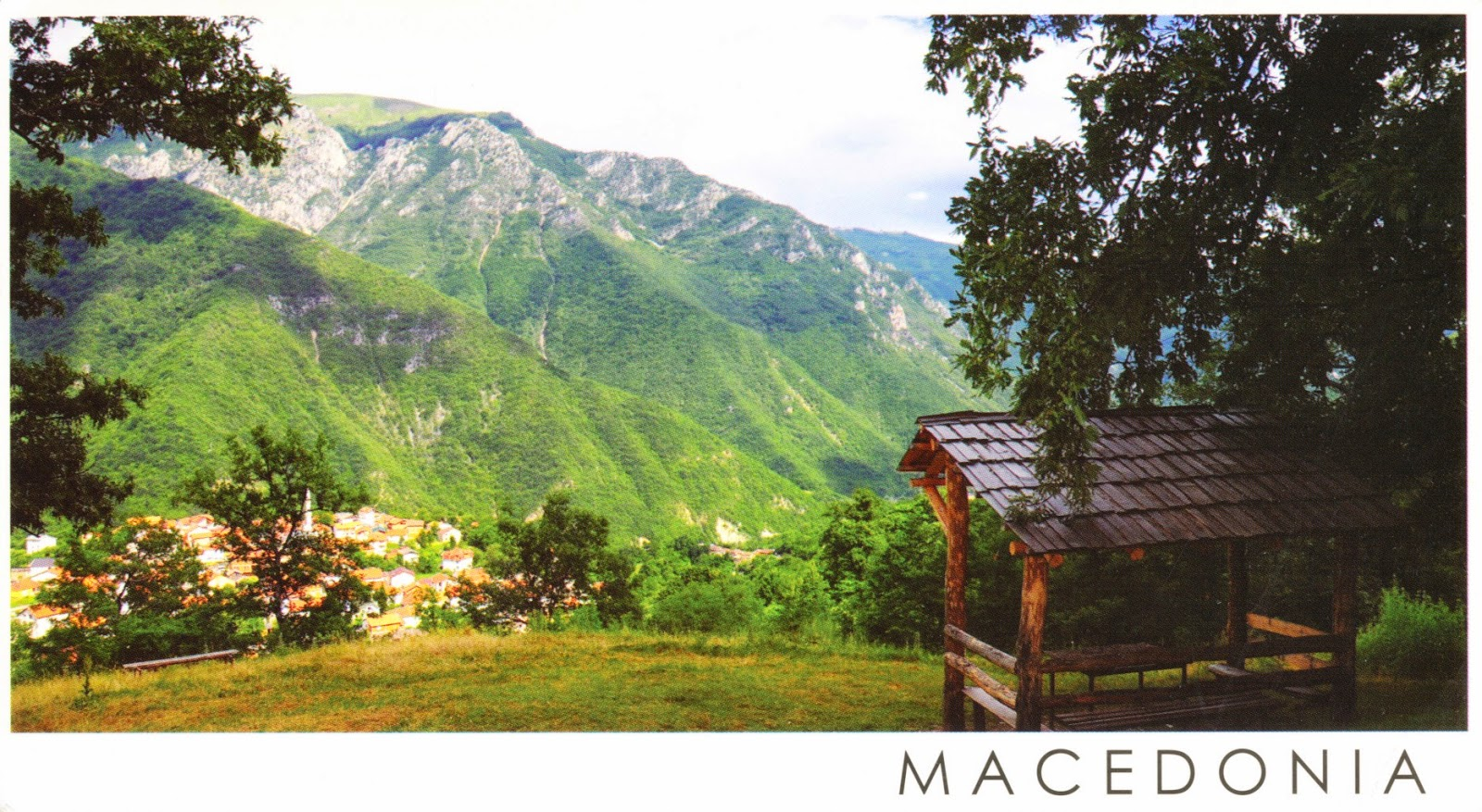 postcard, macedonia, mountain