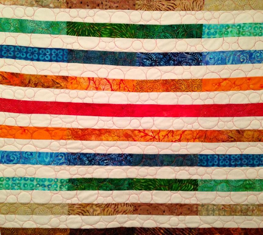 Debra Dennett's Batik Strip Quilt