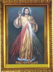 Cuadro de la Divina Misericordia que está colgado en nuestra Parroquia