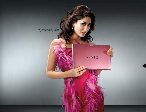 Kareena Kapoor Sony Vaio Laptops Hot Pics