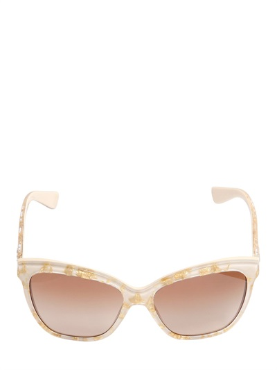 Lunettes de soleil en acétate et feuilles d'or Dolce&Gabbana - 160€ - LuisaViaRoma