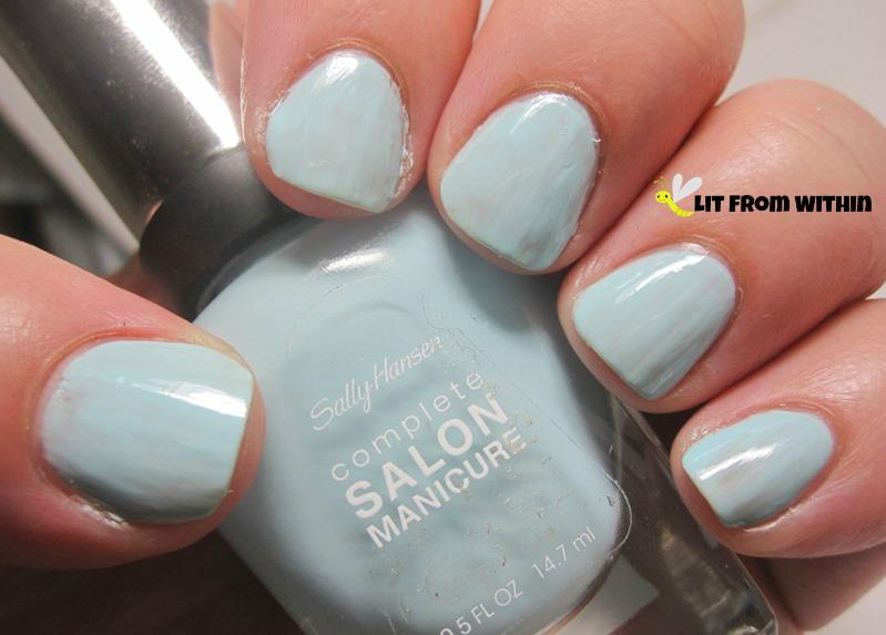 Sally Hansen Barracuda, a lovely baby blue creme.