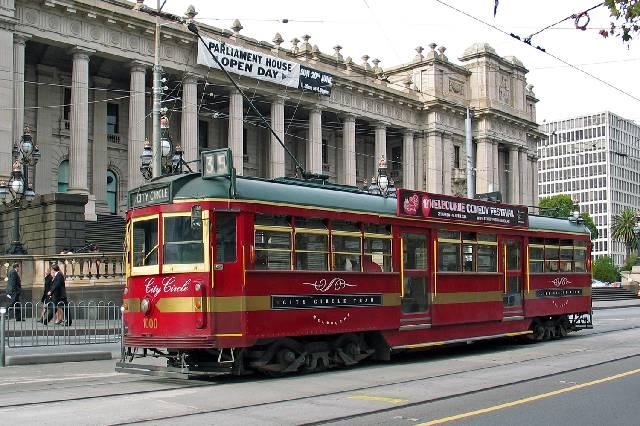 City circle tram, free tram service, australia