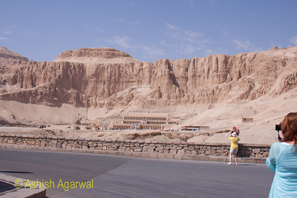 The road leading to the Hatshepsut mortuary temple outside Luxor
