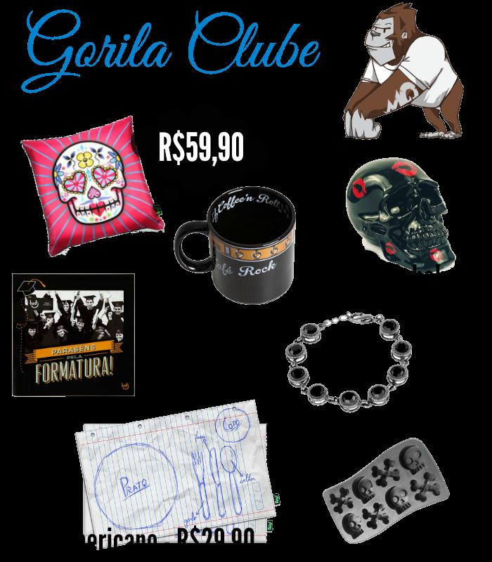 Itens divertidos para decoração Gorila Clube