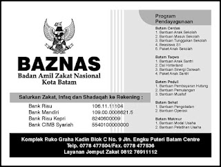 Program Baznas Kota Batam