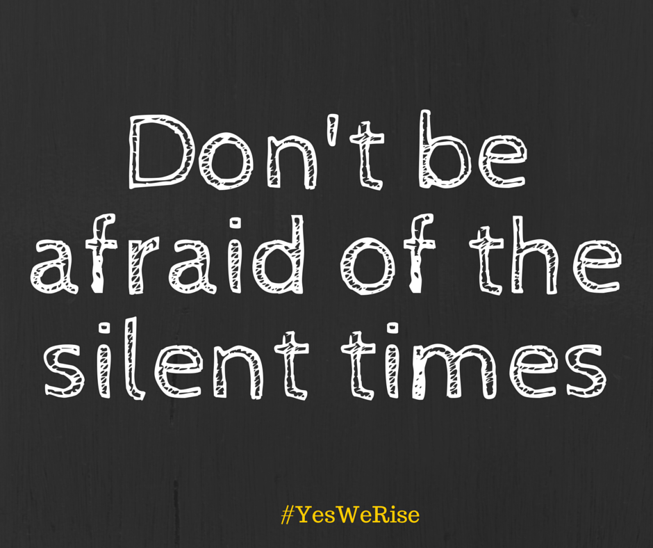 Don't be afraid of the silent times | Yes, We Rise  Learning to be alone, beach, me time, silence