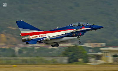 PLAAF J-10-Aerobatic Team in Zhuhai Airshow