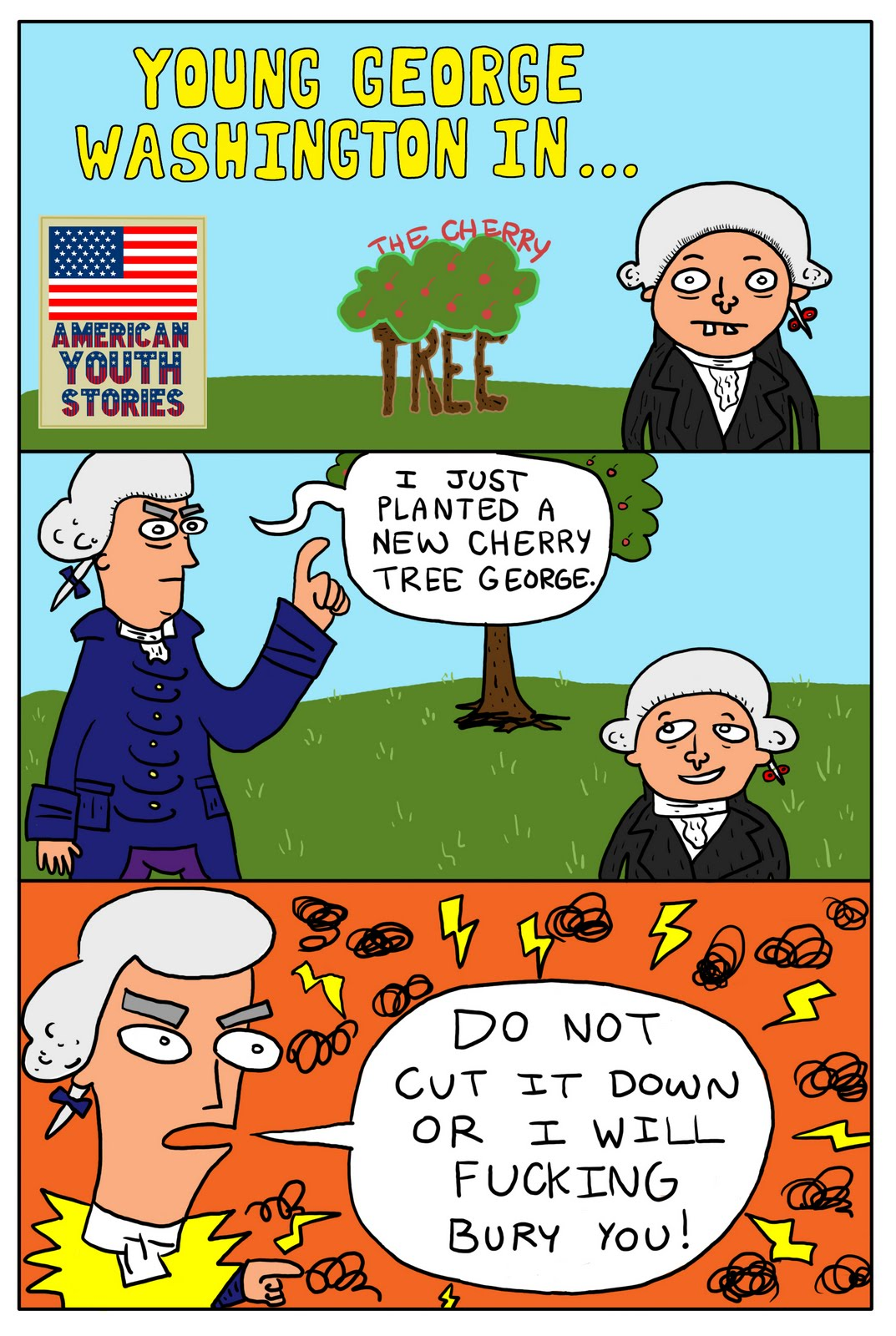 Bobby Mono\'s Crappy Comics: George Washington and Candy or Medicine