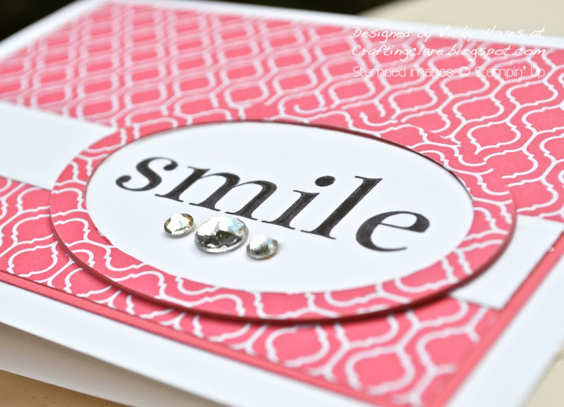 designer paper frame using Happy Day from Stampin Up