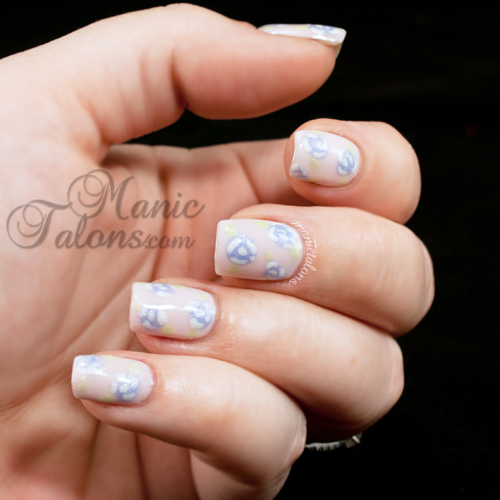 freehand rose nail art with Couture Gel Polish