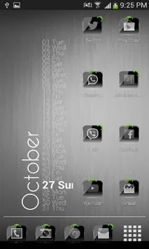 Theme Crystal Black HD Pack For Android