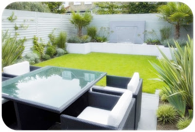 model taman belakang rumah minimalis