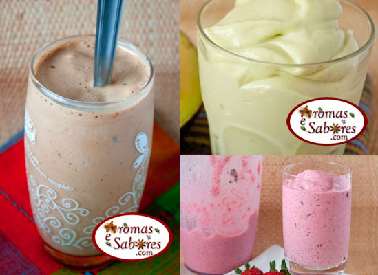 10 receitas de milkshake