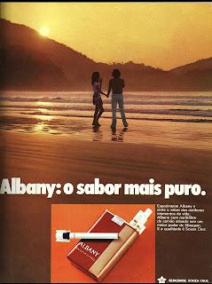 propaganda cigarros Albany - 1972. Reclame cigarros década de 70.