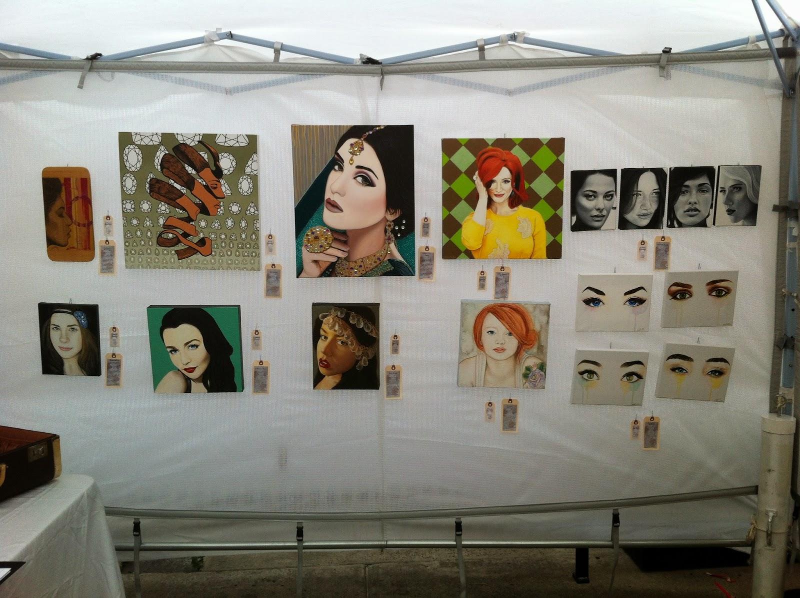art walk north, artists network, north york art festival, toronto art, malinda prudhomme, portrait artist, awn, portrait painting, beauty art