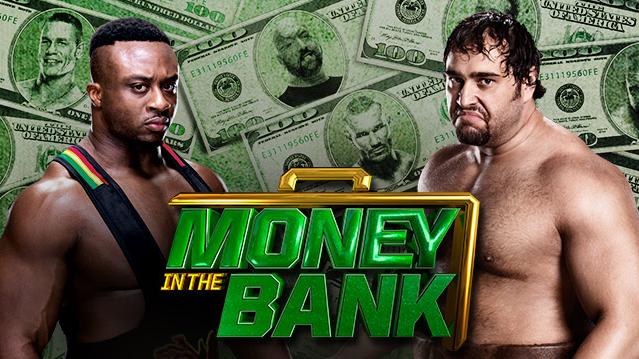 dos gigantescos poderes se enfrentan en Money in the bank cuando Rusev se enfrenta a Big E