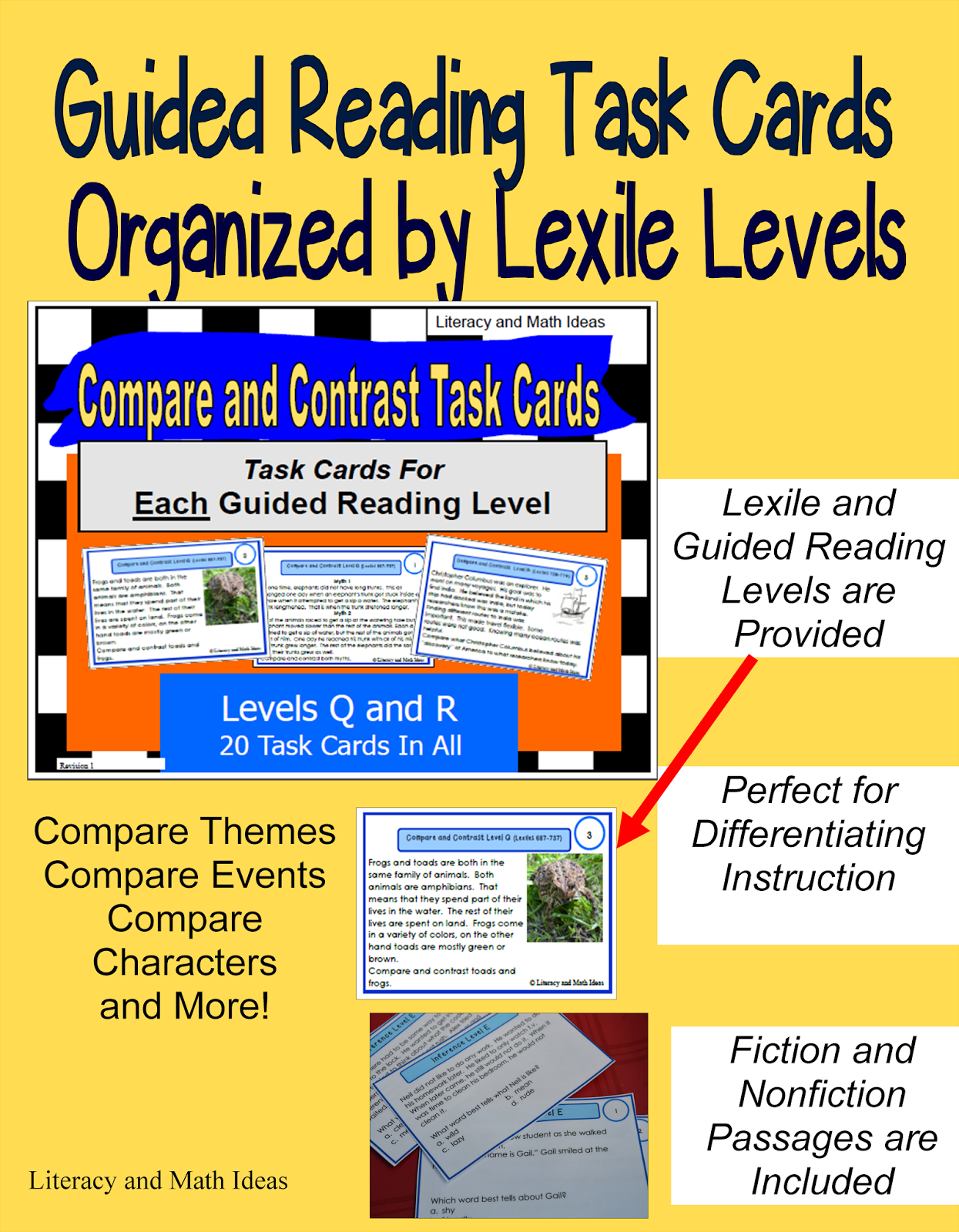 Worksheet Q Reading Level literacy math ideas guided reading task cards that are this makes it much easier to monitor student progress and help students at their individual levels click the link access these tas