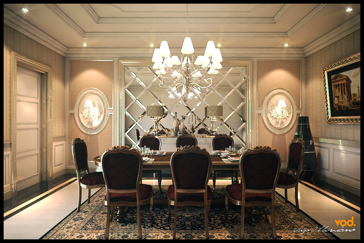 Classic dining room for Classic house design interior